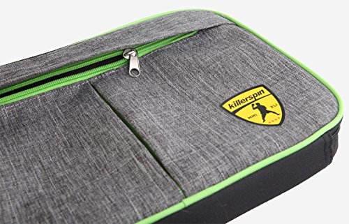 Killerspin Optima Ping Pong Schläger Tragetasche, Grey, One Size