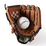 ZRK Guanto da Baseball Softball Sport all'Aria Aperta Guantoni da Pitcher Guanto da Catcher con Baseball PU in Pelle da 11,5 Pollici per Adulto Youth Kids Brown