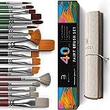 Best Oil Paint Brushes - Easy Grip 40 Piece Artist Paint Brush Set Review