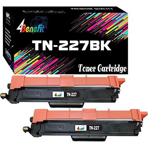 4Benefit Compatible TN223 Toner Cartridge tn227 TN227BK High Yield TN223BK (Black, 2-Pack),use in HL-L3210CW HL-L3230CDW HL-L3270CDW HL-L3290CDW MFC-L3710CW Printer