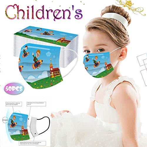 Gesichtsschutzschild,Gesichtsmundabdeckung,Mundschutz,Atemschutz Mundschutz Mund und Nasenschutz,Atmungsaktiv Halstuch Bandana Tuch,Mund und Nasenschutz Für Kinder 50 PCS!