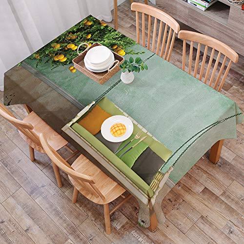 Mantel Antimanchas Rectangular Impermeable,Country, columpio de madera vintage en el jardín de un viejo con un veran,Manteles Mesa Decorativo para Hogar Comedor del Cocina,(140 x 200 cm/55*78 pulgada)