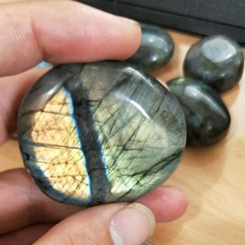 Goodtimera Piedra de labradorita, piedra lunar, Cristal Gema Joya de meditación terapia figurilla para acuario, piedra decorativa