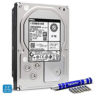 HGST 6TB SATA III 3.5-inch HDD | HUS726060ALE614 | Enterprise Internal Hard Disk Drive Bundle with Compatily Screwdriver | Compatible with Desktop Computers, Workstation PC, Mac, NAS & CCTV DVR