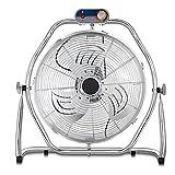 Ventilador Eléctrico de Metal de Grado Comercial, Ventilador de Piso de Alta Velocidad de 4 Velocidades con Inclinación Ajustable de 360 grados, Ventiladores Silenciosos Oscilantes Industriales