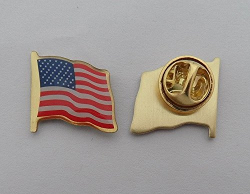 Why Should You Buy Shoparound168 Set of 10 USA American Flag Pin