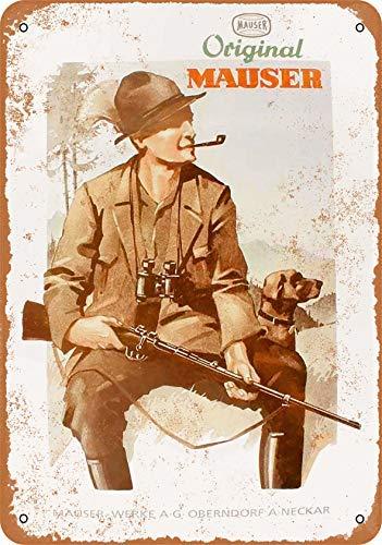Phirtyrius 1934 Mauser Jagd Gewehre Vintage Look Metall Blechschild – 25,4 x 35,6 cm