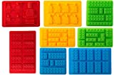 Youdepot Premium Silicone Molds Blocks Robots Chocolate Molds Ice Cube Molds Candy Set of 8 (Blue/Green/Yellow/red)