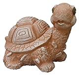 Steinfiguren Spicker Steinfigur Schildkröte, 112/3 Gartenfigur Steinguss Tierfigur Terrakotta Patina