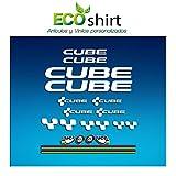 Ecoshirt EA-4EEP-DZCH Pegatinas Cube UCI Vinilo Adesivi Decal Aufkleber Клей MTB Stickers Bike