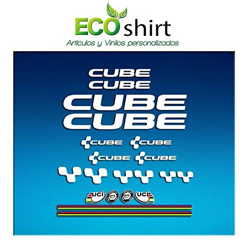 Ecoshirt EA-4EEP-DZCH Aufkleber, Cube UCI, Vinyl, selbstklebend