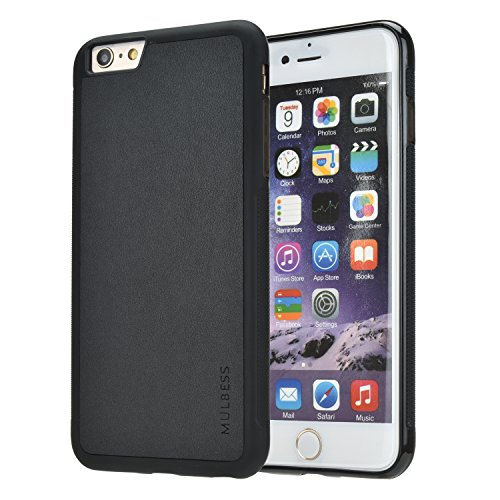 Mulbess Handyhülle für iPhone 6s Plus Hülle, iPhone 6 Plus Hülle, Shockproof Soft TPU Silikon Case Schutzhülle Handytasche für iPhone 6s Plus Tasche, Schwarz