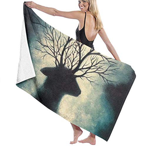 Ewtretr Toalla de Playa Bath Towels Mysterious Christmas