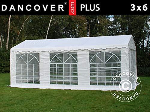Dancover Partyzelt Pavillon Festzelt Plus 3x6m PE, Weiß