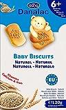 Danalac Babykekse Naturell, 120 g Snacks und Nahrung für Kleinkinder ab 6 Monaten mit Kalzium, Eisen und Vitaminen