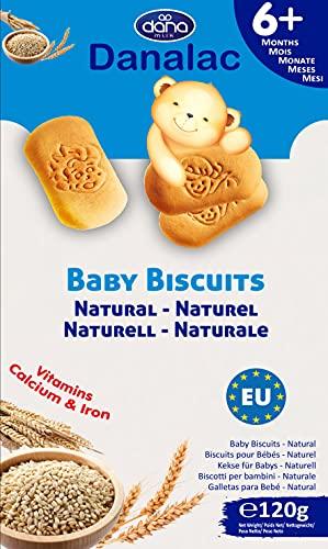 Danalac Biscuits Saveur de Naturelle pour Bébés 6+ Mois 0.12 kg
