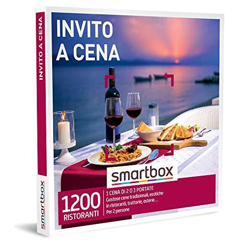 smartbox - Cofanetto Regalo Coppia - Invito a Cena - Idee Regalo Originale - 1 Menù di Due o Tre portate per 2 Persone