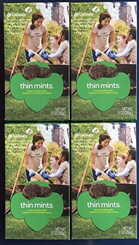 Girl Scout Thin Mints Cookies, 9 Oz(4 Boxes)