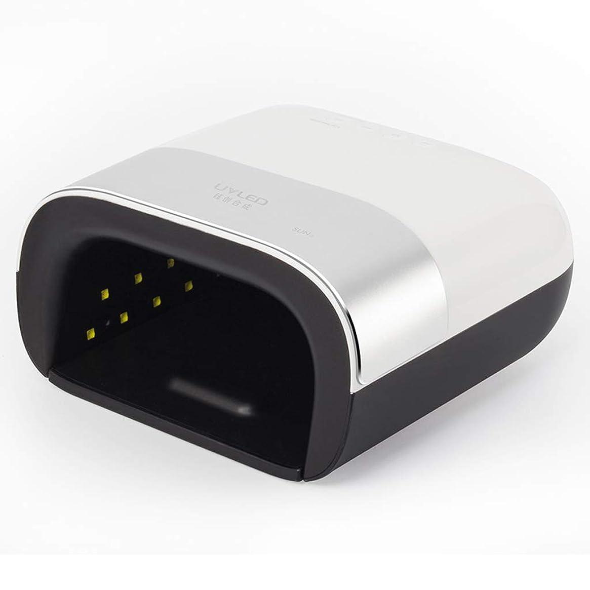対人かみそり不快なネイル光線療法マシン、痛いベーキングラバーネイルランプ、UVLED二重光源ランプ電力48W