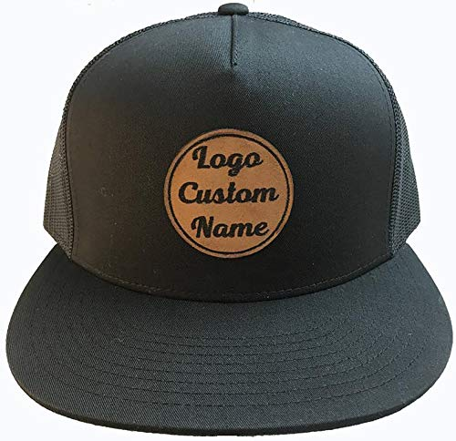 Custom Leather Max 68% OFF SEAL limited product Patch Hats Trucker