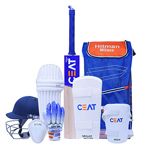 Ceat Hitman Milaze Junior Heavy Duty Nylon Cricket Kit (Size 3), Blue