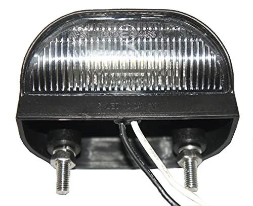J/J - Iluminación de placa de matrícula LED 12-24 V, 75 x 45 mm, universal, color blanco IP67