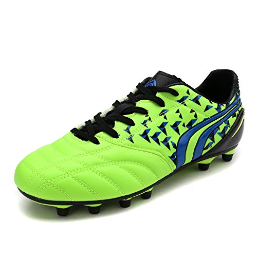 DREAM PAIRS Little Kid 160860-K Neon Green Black Royal Soccer Football Cleats Shoes - 1 M US Little Kid