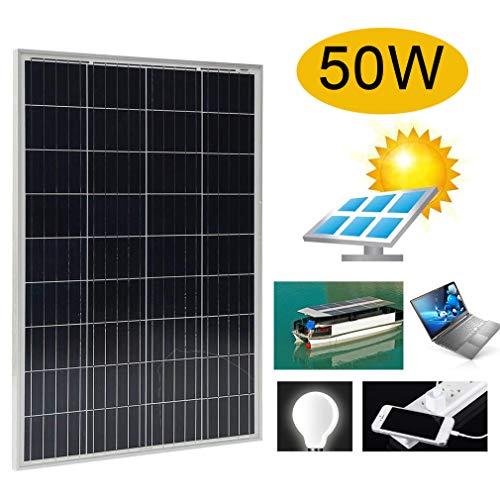 50Watt 12 Volt Solarmodul Solarpanel Photovoltaik Solarzelle monokristallin für Wohnmobil, Gartenhäuse, Boot