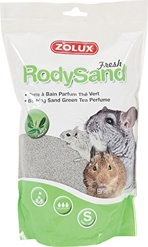 Zolux Terre à Bain Parfum Thé Vert pour Chinchilla Octodon/Gerbille 2 L