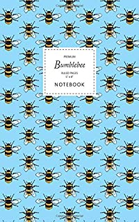 Bumblebee Notebook - Ruled Pages - 5x8 - Premium: (Sky Blue Edition) Fun notebook 96 ruled/lined pages (5x8 inches / 12.7x...