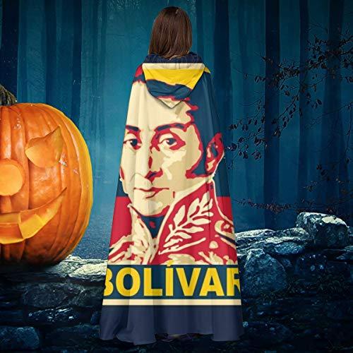 NULLYTG Bolvar - Disfraz de caballero de bruja con capucha para disfraz de vampiros