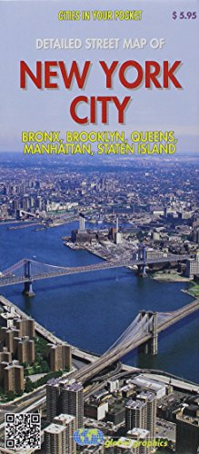 The New York City 5 Boroughs Street Map (Brooklyn, Bronx, Manhattan, Staten Island and Queens)