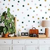 RoomMates RMK4829SCS - Adhesivos decorativos para pared, color rosa, azul, verde azulado, mostaza, amarillo
