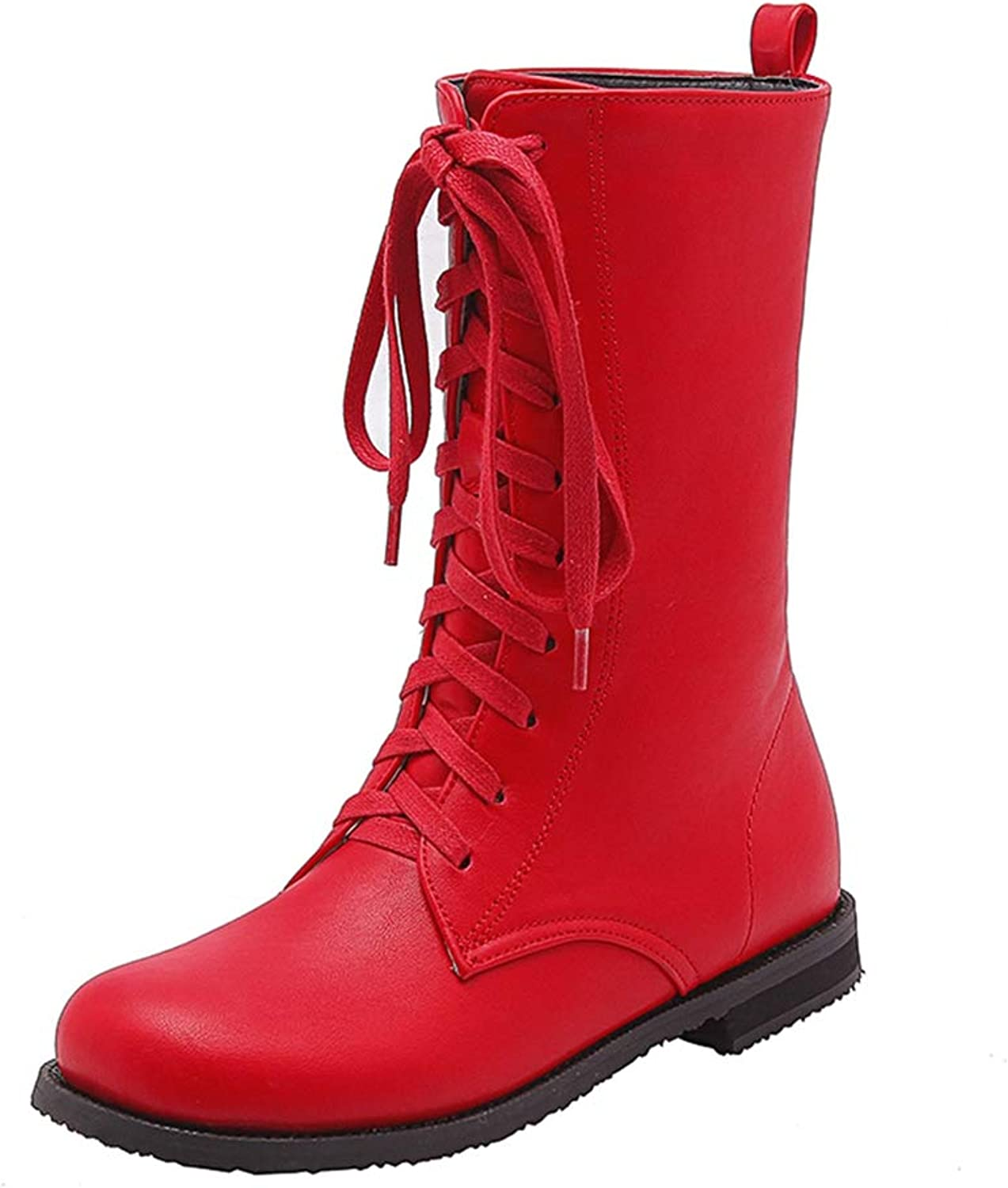 T-JULY Autumn Winter Women's Boots Fashion Cool Leisure Lace up Martin shoes