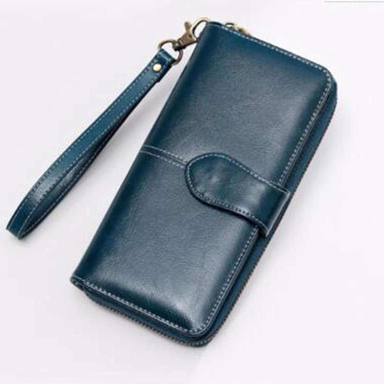Yter Mens-Kartenmappenhalter Lange Brieftasche Unisex Clutch Bag 2 Way Verschluss Öffnen und Schließen Zeremoniell Leder Super Lagerung Bequeme Brieftasche Brieftasche für Männer B07NQFC6W2