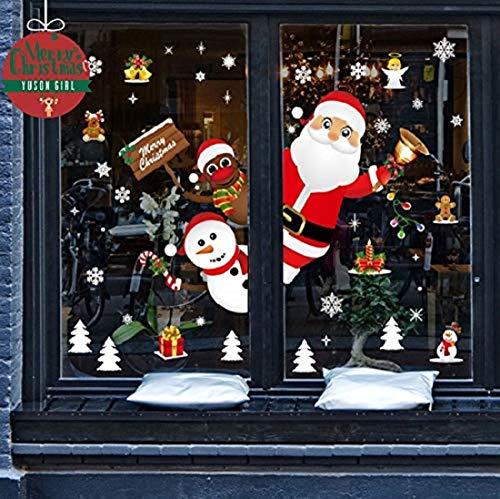 Yuson Girl Natale Adesivi Display Rimovibile Natale Addobbi Murali Fai Da Te Finestra Decorazione Vetrina Adesivi E Murali Da Parete Sticker Decorativi