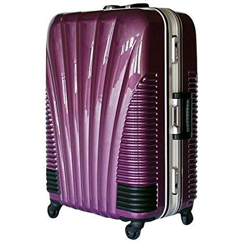 [BB-Monsters] ストッパー付スーツケース TSAロック搭載 フレームタイプ 旅行カバン 鳳凰 Lサイズ Mサイズ MSサイズ (24、中型、M, パープル)
