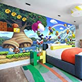 LHBHX Fototapete 3D Selbstklebend (B) 200X (H) 150Cm Spiel Vergnügungspark 3D Fototapete Kinderzimmer Wohnzimmer Schlafzimmer Kinderzimmer Hintergrund Wandfoto Wandkunst