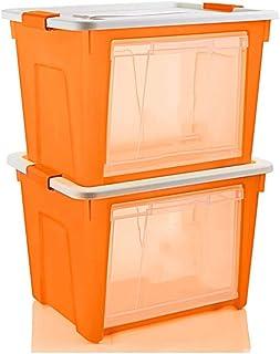 Panier de rangement Boîte de Rangement Transparente en Plastique 67 * 47 * 39.5cm de boîte de Rangement épaisse de Paquet ...