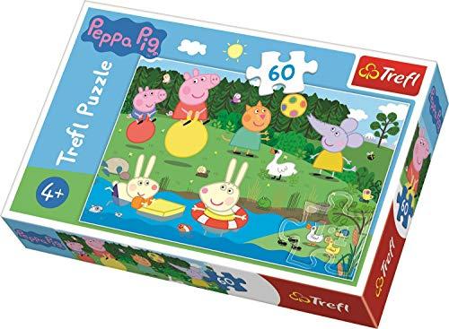 Trefl 17326 Peppa Pig Urlaubsspaß, Puzzle 60 Teile