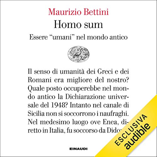 Homo sum copertina