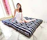 Sale Active Soft White Cotton Filled Mattress/Gadda - (6 x 4 Feet or 72 x 48 x 4 Inches, Blue-White Striped Color)