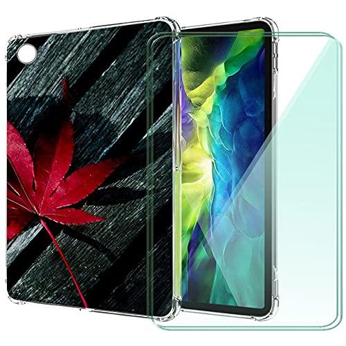 WANCJX Transparente Tablet Funda Compatible para Lenovo Tab M10 HD 2nd Gen (10.10 Pulgada) Carcasa + [2 Pieza] Cristal Templado Film,Antigolpes Caso Cover,HD Cristal Templado Membrana-JX2