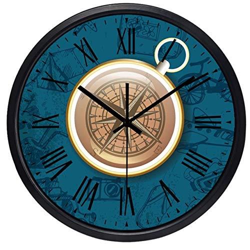 Horloge Murale Creative Compass Design Home Decor Grande Horloge Murale Moderne 14 Pouces B006B