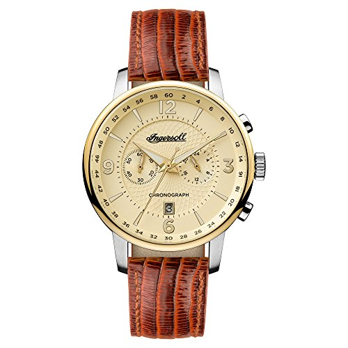 Ingersoll Herren Analog Quarz Uhr mit Leder Armband I00603