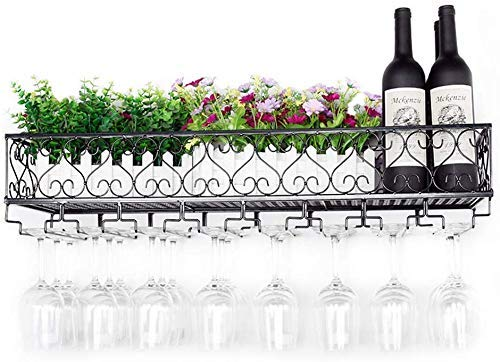 Beautifully Soporte para botellero de pie en el Piso Soporte para Botellas de Vino montado en la Pared Estante para vinos/Botellero montado en la Pared/Soporte para Vidrio invertido/Soporte par