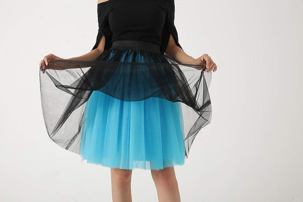 Dorchid Women's Vintage Puffy Tutu Petticoat Ballet Skirt Knee Length 5 Layers