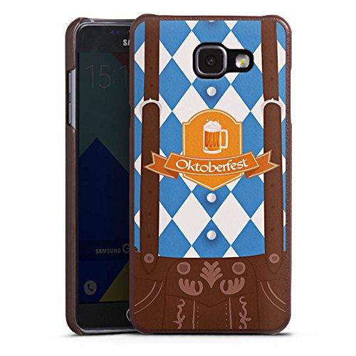 DeinDesign Cover kompatibel mit Samsung Galaxy A5 (2016) Lederhülle Leder Case Leder Handyhülle Oktoberfest Lederhose Bier