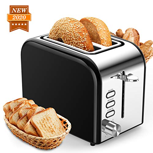 Toasters 2 Slice Best Rated Prime 1.5in Wide Slot with Bagel/Reheat/Cancel Function...
