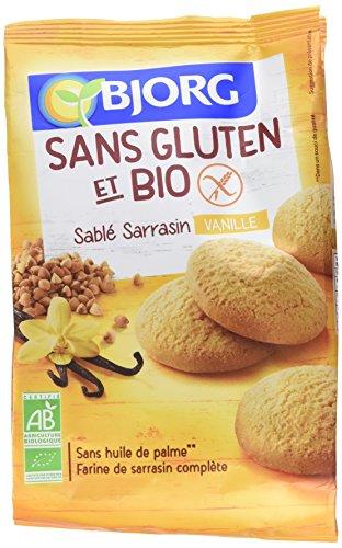 Bjorg Biscuits Sablé à la Vanille sans Gluten Bio 250 g - Lot de 4